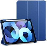 ESR - iPad Air 2020 hoes - 10.9 inch - Rebound Tri-Fold Case met Pencil Houder - Auto Wake Functie - Blauw