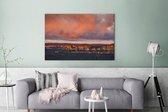 Rotsen in Nationaal park Blue Mountains in Oceanië Canvas 180x120 cm - Foto print op Canvas schilderij (Wanddecoratie woonkamer / slaapkamer) XXL / Groot formaat!
