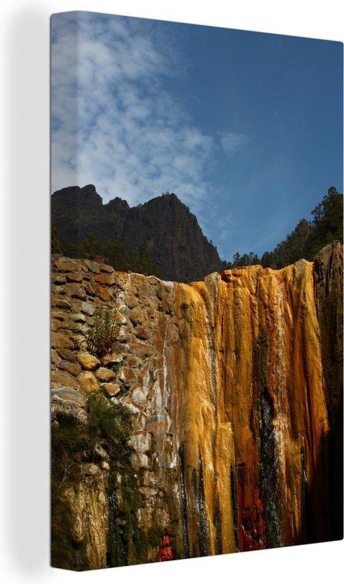 Kleurrijke rotsen in het Nationaal park Caldera de Taburiente in Spanje Canvas 40x60 cm - Foto print op Canvas schilderij (Wanddecoratie woonkamer / slaapkamer)