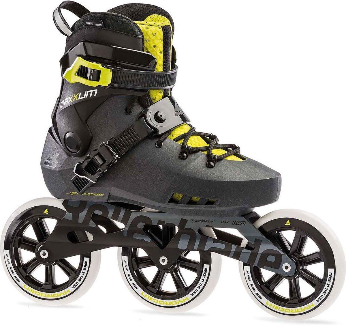 Rollerblade Maxxum Edge inline skates 125 mm metallic grey / lime