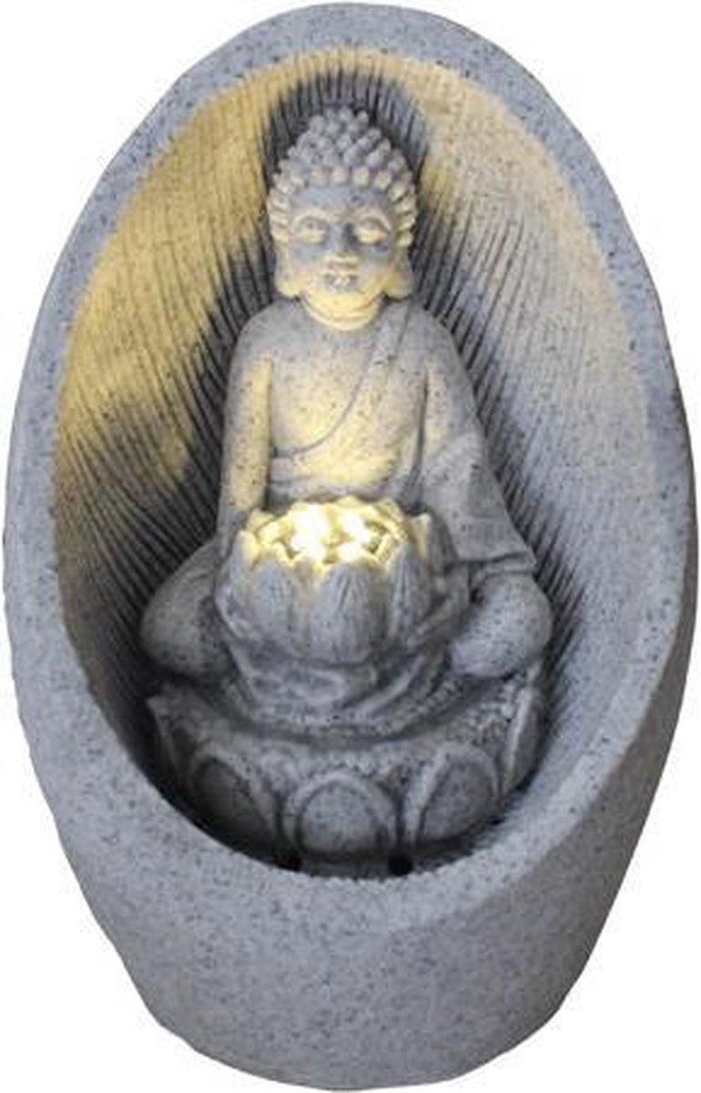 Fine Asianliving Zandsteen Buddha Fontein 21.5x31.2cm