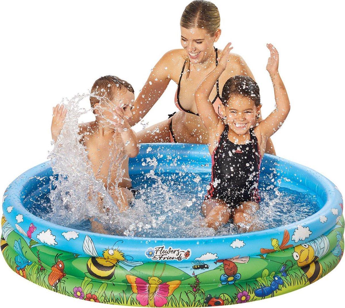 Happy People opblaaszwembad 122 x 25 cm blauw