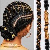 Haar touw - haar kralen - hair beads - beads for braids - dreadlocks - goud 6 stuks