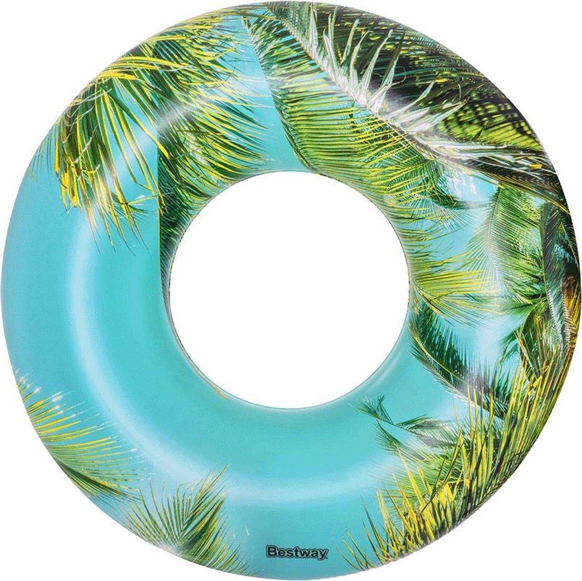 opblaas zwemband tropical sunset 119 cm | blauw