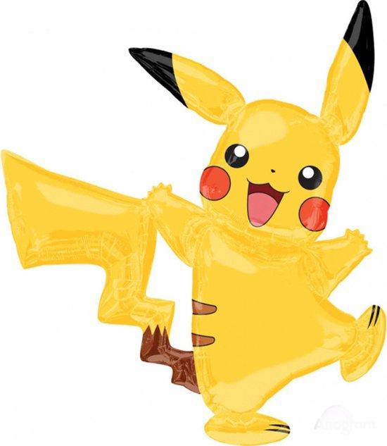 AMSCAN - Aluminium Pokemon Pikachu ballon - Decoratie > Ballonnen