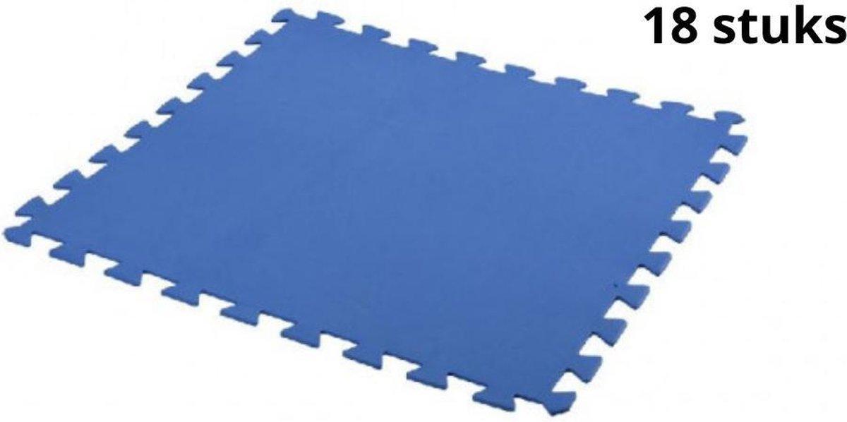 Free and Easy Zwembadtegels Foam Blauw 50 x 50 cm - 18 Stuks - 4,5m²