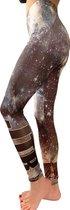 jtb-store - high waist sport legging yogalegging dames  - fantasy print  - maat XXL