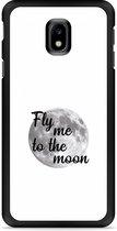Galaxy J3 2017 Hardcase Hoesje Fly me to the Moon