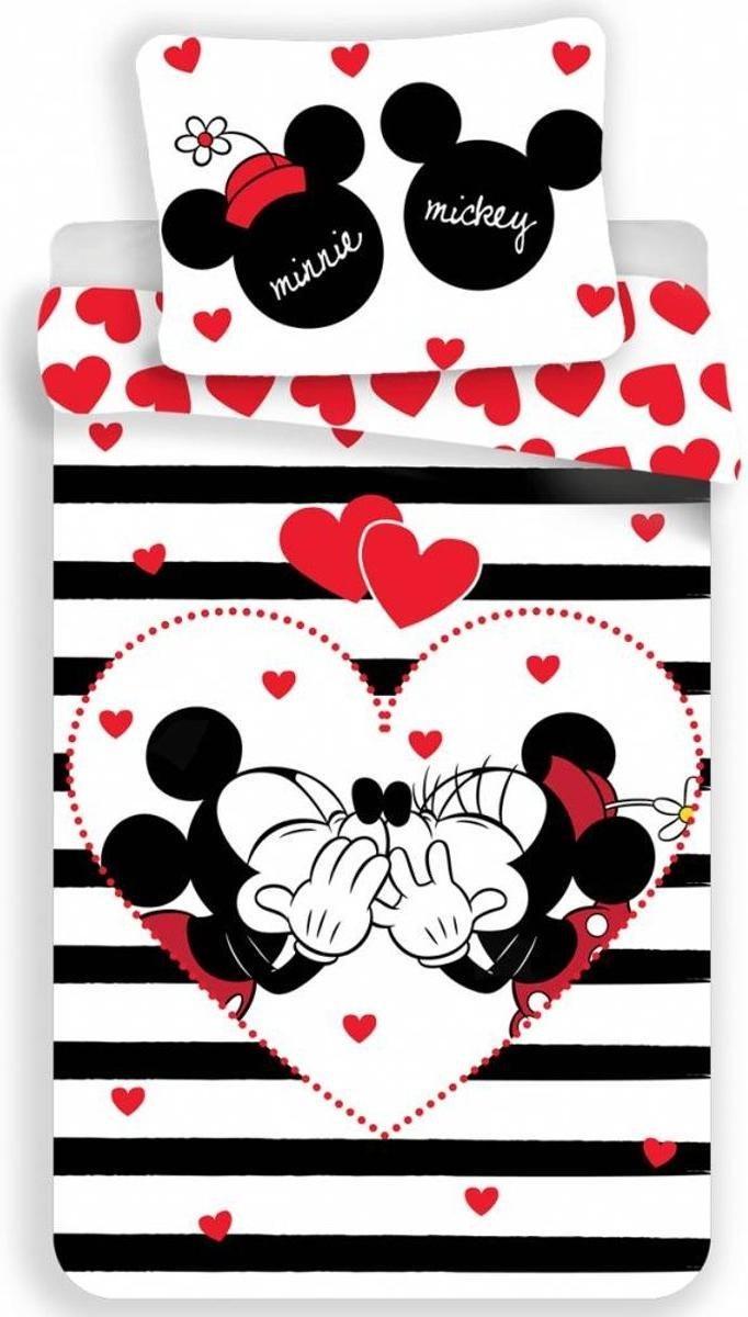 Dekbedovertrek- Disney Minnie Mouse Stripe- Eenpersoons-140x200 cm - Multi kopen