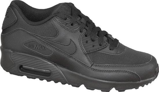 Nike Air Max 90 Leather Sneakers Kinderen - Black