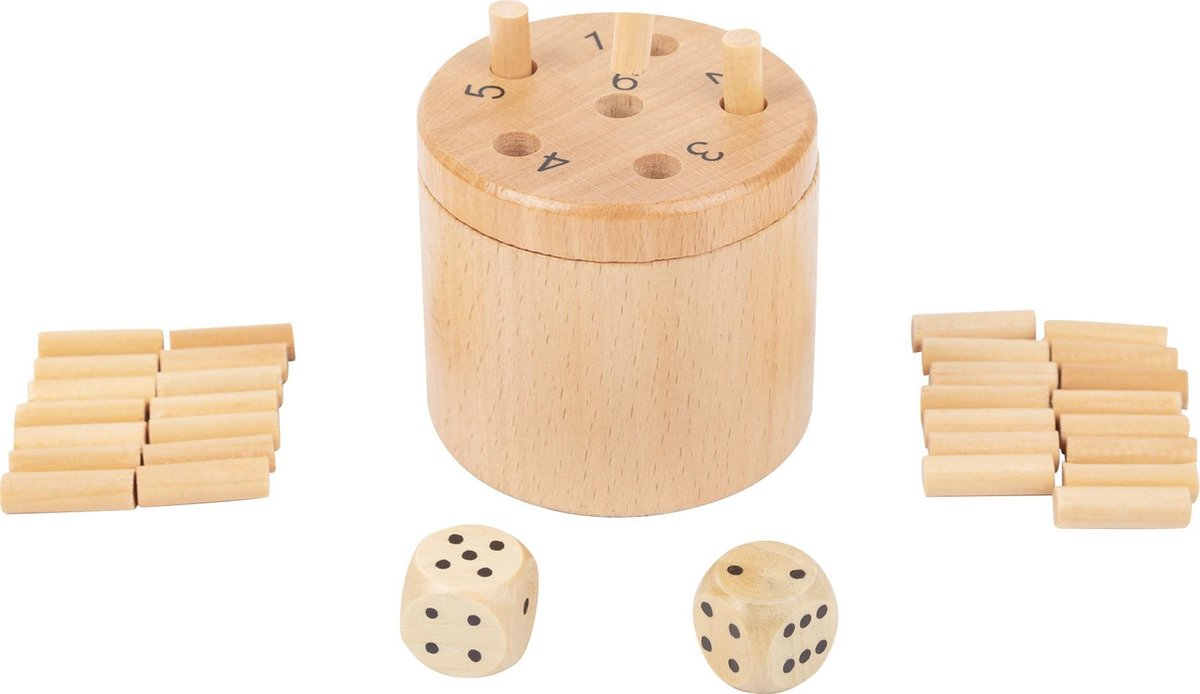 Small Foot Dobbelspel Super Six Dice Unisex Hout