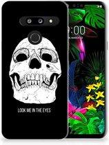 LG G8 Thinq Silicone Back Case Skull Eyes