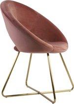 Light & Living Stoel 72x59x84 cm CHARLIE velvet oud roze+goud