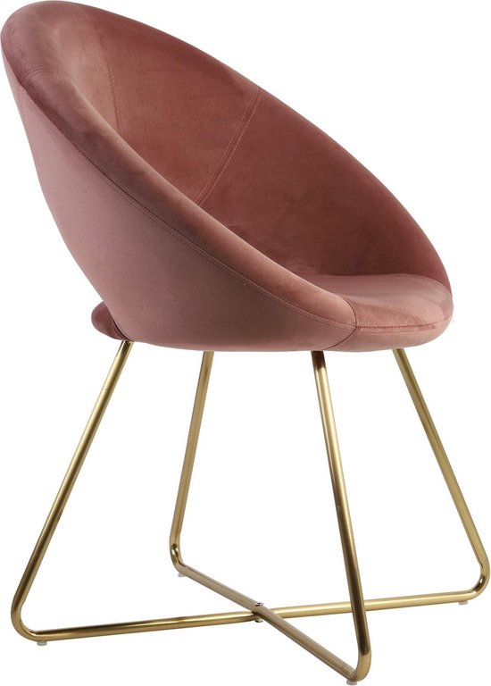 Spiksplinternieuw bol.com   Light & Living Fauteuil CHARLIE velvet oud roze 84 x 59 x 72 JC-56