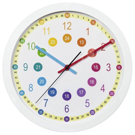 """Hama Wandklok voor kinderen """"Easy Learning"""", diameter 30 cm, geluidsarm"""