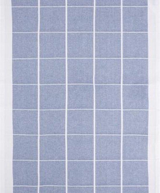 Clarysse Voordeel Theedoeken Timeless Geblokt Blauw 50x70cm 6 stuks