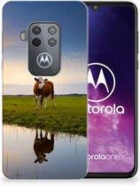 Motorola One Zoom TPU Hoesje Koeien