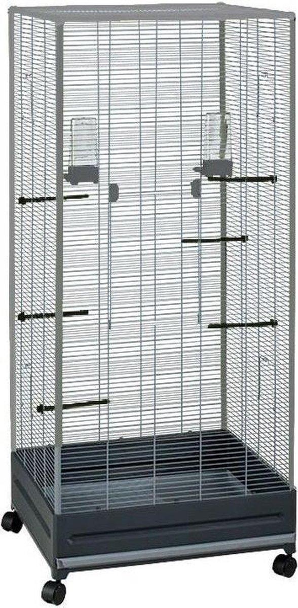 Voltrega Voliere 420 - Vogelkooi - Grijs - 65 x 54 x 150 cm