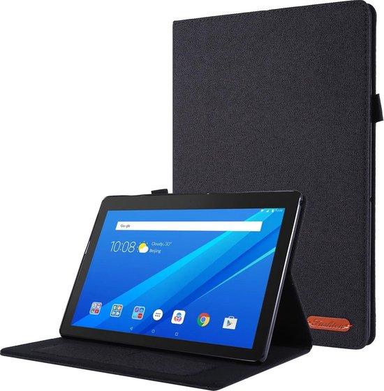 Lenovo Tab P10 hoes - Book Case met Soft TPU houder - Zwart