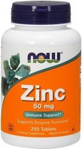 Now Foods, Zinc, 50 mg, 250 tabletten