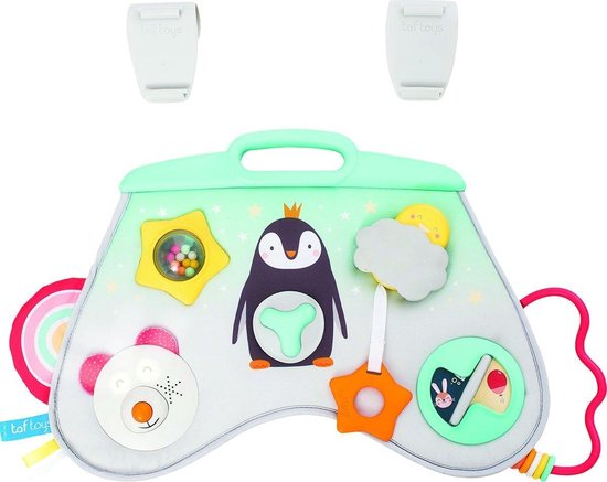 Taf Toys Activity center met muziek en licht - voor in de box, op een speelkleed of onderweg - 0 tot 24 maanden