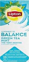 Lipton Feel good selection - Green tea mint - 25 Tea bags