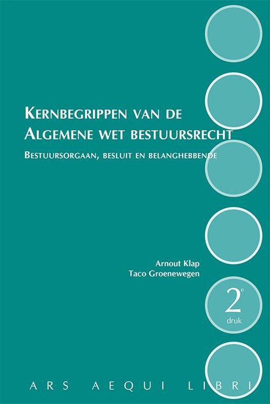Boek cover Ars Aequi Handboeken  -   Kernbegrippen van de Algemene wet bestuursrecht van Arnout Klap (Paperback)
