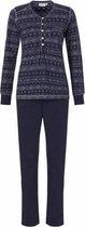 Pastunette dames pyjama Navy Dots  - 46  - Blauw