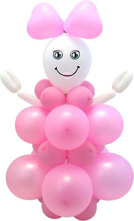 Geboorte Ballonnenpilaar Set Meisje 95cm