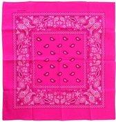 Bandana/zakdoek Fluor roze