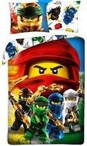 LEGO Dekbedovertrek Ninjago  - Eenpersoons - 140  x 200 cm - Katoen