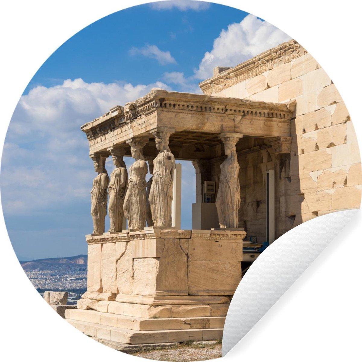 Imposante Tempel van Nikè in Athene Wandcirkel behangsticker 50x50 cm / behangcirkel / muurcirkel / wooncirkel - zelfklevend & rond uitgesneden