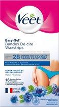 Veet Ontharingsstrips Bikinilijn & Oksels Gevoelige Huid - 16 stuks