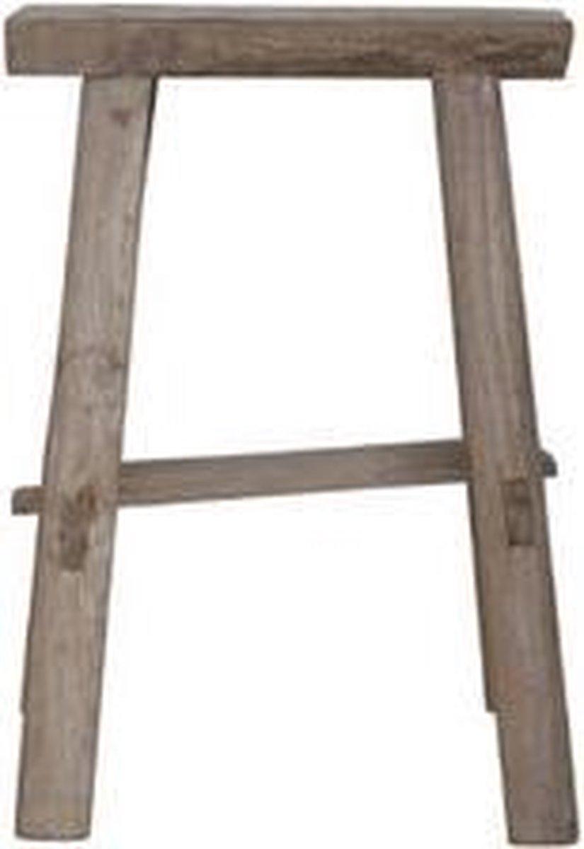 AnLi-Style Grove houten Krukje