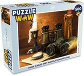 Puzzel 500 stukjes Ouderwets navigatiemateriaal - Oude kaars met navigatiemateriaal  - PuzzleWow heeft +100000 puzzels