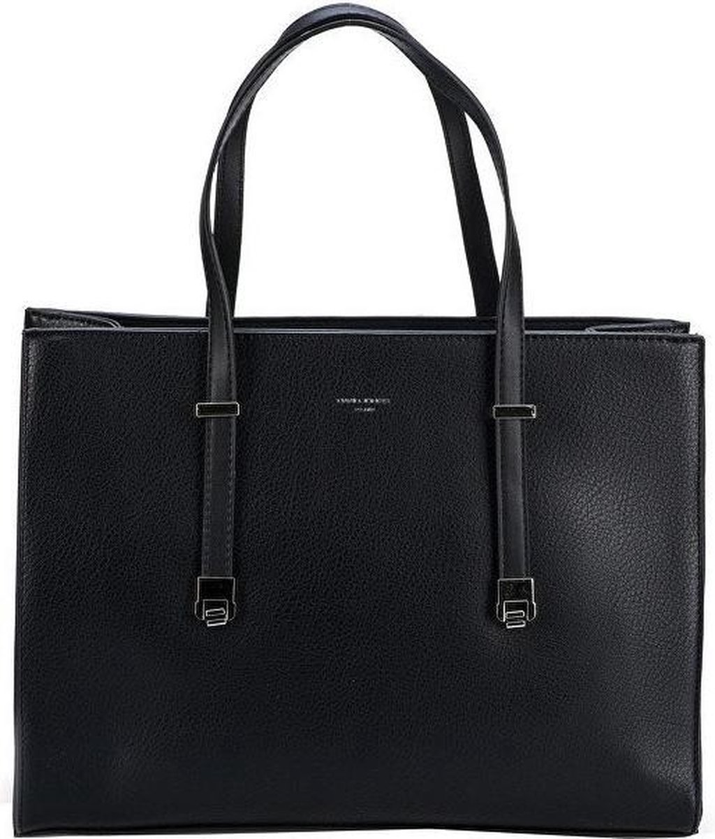 David Jones grote Handtas met verstelbare handvatten- Zwart