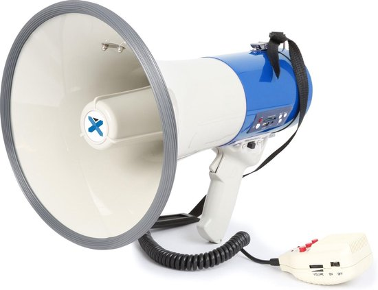 Megafoon - Vonyx MEG065 - Megafoon 65W met herlaadbare accu, MP3 op USB/SD, opnamefunctie