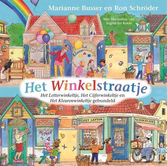 Boek cover De Winkeltjes  -   Het Winkelstraatje van Marianne Busser (Hardcover)
