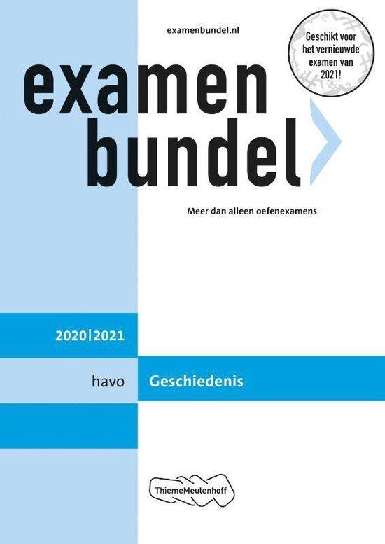 Boek cover Examenbundel havo Geschiedenis 2020/2021 van  (Paperback)