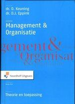 Boek cover Management en organisatie van D. Keuning (Hardcover)