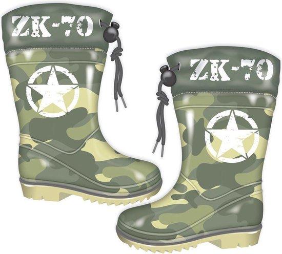 Arditex Regenlaarzen Army Jongens Pvctextiel