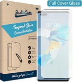 Just in Case Full Cover Tempered Glass voor Huawei Mate 40 Pro - Zwart