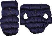 4Goodz Donsjas winterjas bodywarmer voor honden 35 cm - Blauw