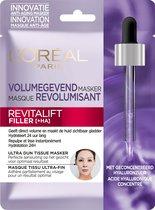 L'Oréal Paris Skin Expert Revitalift Filler Hyaluronzuur Tissue Masker - 20 Stuks - Voor Meer Volume en een Gladde Huid