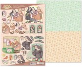 MRJ 3D Die cut sheet Happy Bells + 1 potpourri sheet