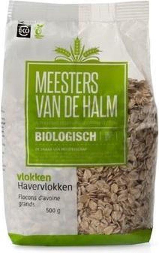 Havervlokken grof Meesters Van De Halm - Zak 500 gram - Biologisch