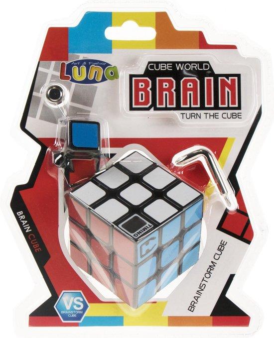 Afbeelding van het spel Luna Puzzelkubus Met Timer 3 X 3 Luna 5,8 Cm