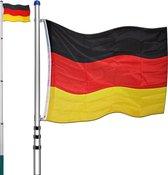 Deuba vlaggenmast 630cm Duitsland   Telescopisch