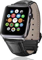 krokodil leren bandje zwart met klassieke gesp voor Apple Watch 38mm - 40mm vervangende horlogeband voor Iwatch Series 6/5/4/3/2/1 Watchbands-shop.nl
