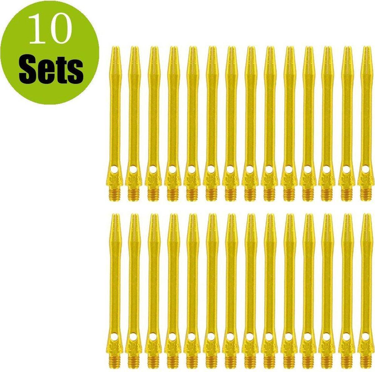 Aluminium Dart Shafts - Goud - Short - (10 Sets)